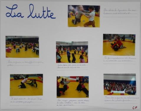 Rencontre Lutte par la classe de CP de l'école Saint-Exupéry de Freyming- Merlebach